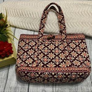 Vera Bradley Burgundy Multiprint Bag